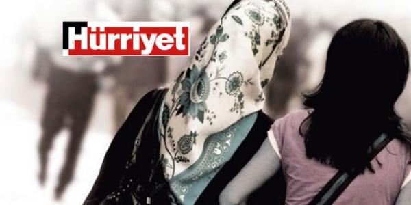 Hürriyet'ten çirkin 'Türban' manşeti