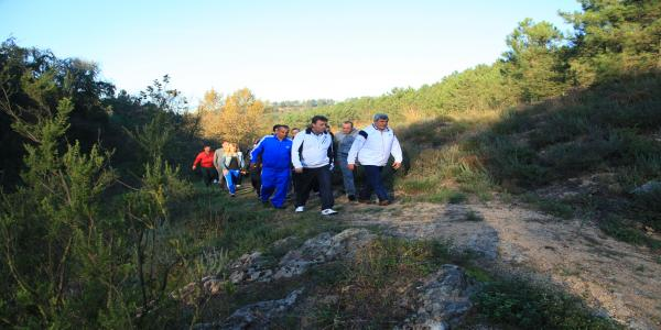 Karaosmanoğlu ile Demirci, Güne Sabah Sporu İle Başladı