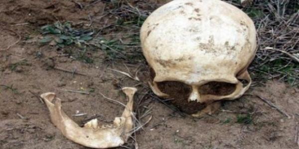 Beylik Dağında insan iskeleti!