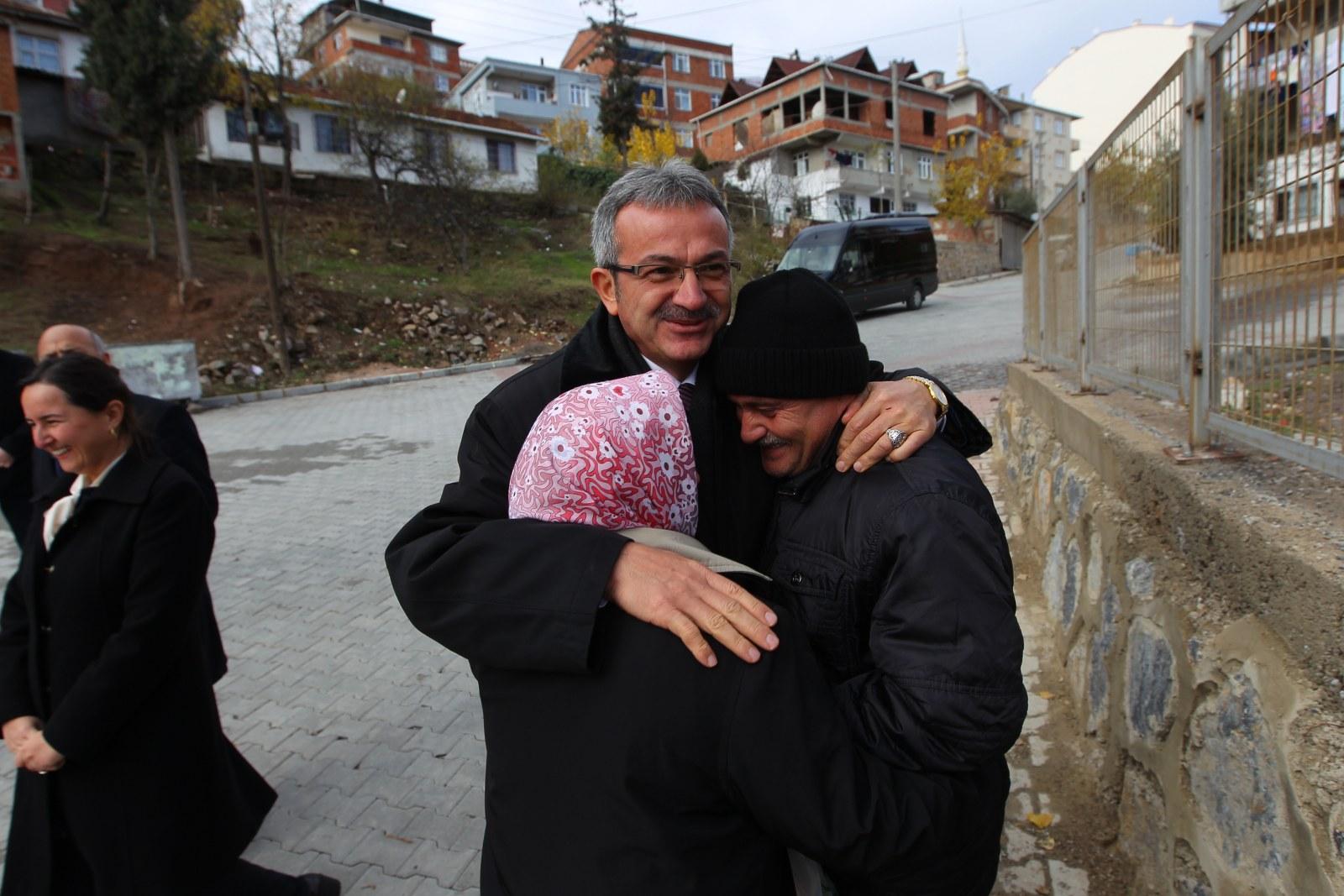 Başkan Köşker M. Sinan'a konuk oldu