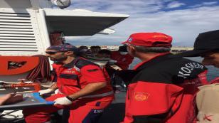 21 göçmenin cenazesi, hastanelere getirildi