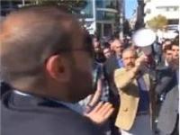 Protestocuların karşısına tek başına çıktı!
