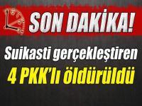 Emniyet Müdürü'ne suikast gerçekleştiren 4 PKK'lı öldürüldü