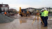 Tramvay inşaatı dört koldan ilerliyor