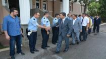 Şahin ve Toltar'dan asker ve polise bayram ziyareti