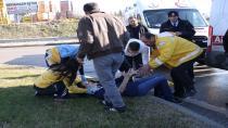 Kavşakta durmayan otomobile otobüs çarptı: 2 yaralı