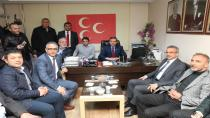 Köşker'den başkanlara tebrik ziyareti