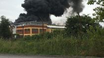 Gebze'de plastik fabrikasında yangın çıktı