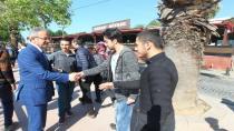 Stajyer öğrencileri Başkan Köşker uğurladı