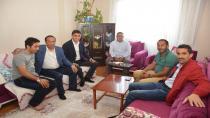 Toltar'dan Diliskelesi mahalle muhtarına Geçmiş Olsun Ziyareti