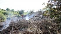 Ormanlık alandaki yangın büyümeden söndürüldü