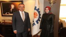 Başkan adayı Uzuner Köşker'i ziyaret etti