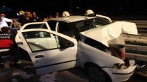 Kamyon otomobile arkadan çarptı: 4 yaralı
