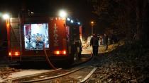 Samanlık yangını itfaiye ekiplerince söndürüldü