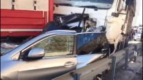 TEM'de 8 araç birbirine girdi, 10 kilometrelik araç kuyruğu oluştu