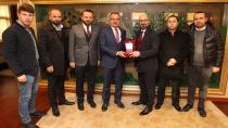 Fırtına Trabzonsporlular Başkan Köşkeri ziyaret etti