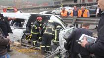Kazaya neden olan sürücü gözaltında