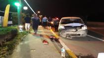 Alkollü sürücünün çarptığı motosikletli yaralandı