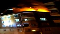 6 katlı binanın çatısı alev alev yandı