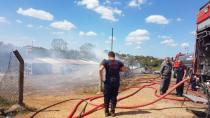 Kurbanlıklar yangından kurtarıldı