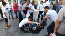Gebze'de hafif ticari aracın çarptığı 2 kişi yaralandı