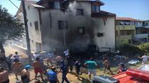 Kamp çadırında çıkan yangın, paniğe neden oldu