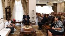 Öğrenciler vali Aksoy'u ziyaret etti