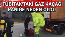TÜBİTAK'ta korkutan gaz kaçağı