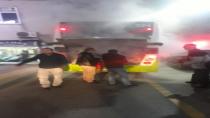 Çayırova'da Halk Otobüsu yandı
