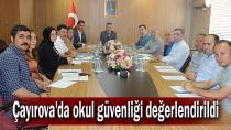Çayırova'da okul güvenliği değerlendirildi
