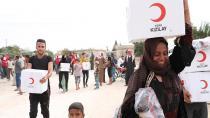 Kızılay Tel Abyad'daki sivillere el uzattı