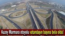 Kuzey Marmara otoyolu vatandaşın başına bela oldu!