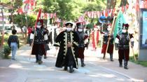 Mehteran takımı İstanbul'un fethi için yürüdü